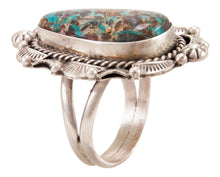 Load image into Gallery viewer, Navajo Native American Candelaria Turquoise Ring Size 10 by B Lee SKU232963