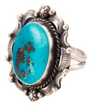 Load image into Gallery viewer, Navajo Native American Kingman Turquoise Ring Size 9 3/4 by B Lee SKU232965