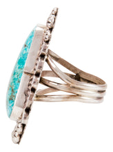 Load image into Gallery viewer, Navajo Native American Candelaria Turquoise Ring Size 9 1/2 by Lee SKU232967
