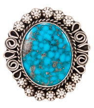 Load image into Gallery viewer, Navajo Native American Kingman Turquoise Ring Size 9 1/2 by B Lee SKU232968