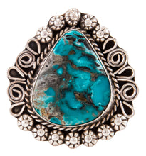 Load image into Gallery viewer, Navajo Native American Kingman Turquoise Ring Size 9 1/2 by B Lee SKU232969