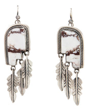 Load image into Gallery viewer, Navajo Native American Wild Horse Magnesite Earrings by Willeto SKU232987