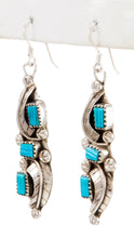 Load image into Gallery viewer, Zuni Native American Kingman Turquoise Earrings by Amy Locaspino SKU232989