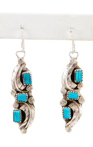 Zuni Native American Kingman Turquoise Earrings by Amy Locaspino SKU232989