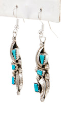 Load image into Gallery viewer, Zuni Native American Kingman Turquoise Earrings by Amy Locaspino SKU232990