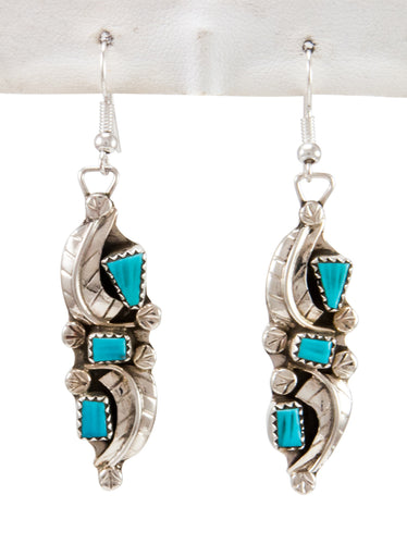 Zuni Native American Kingman Turquoise Earrings by Amy Locaspino SKU232990
