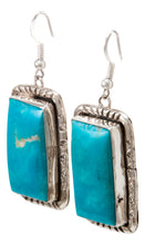 Load image into Gallery viewer, Navajo Native American Kingman Turquoise Earrings by Betta Lee SKU232993