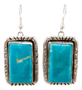 Navajo Native American Kingman Turquoise Earrings by Betta Lee SKU232993