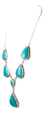 Load image into Gallery viewer, Navajo Native American Kingman Turquoise Necklace by Betta Lee SKU232994