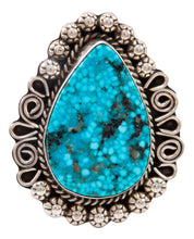 Load image into Gallery viewer, Navajo Native American Blue Ridge Turquoise Ring Size 9 3/4 by Lee SKU232999