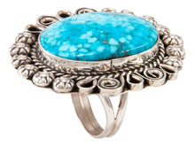 Load image into Gallery viewer, Navajo Native American Kingman Turquoise Ring Size 9 3/4 by Lee SKU233000