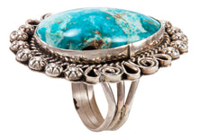 Load image into Gallery viewer, Navajo Native American Candelaria Turquoise Ring Size 9 1/4 by Lee SKU233001