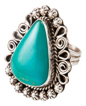 Load image into Gallery viewer, Navajo Native American Kingman Turquoise Ring Size 8 3/4 by Lee SKU233002
