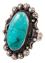 Load image into Gallery viewer, Navajo Native American Kingman Turquoise Ring Size 7 by Betta Lee SKU233003