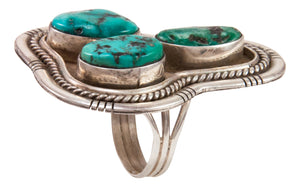 Navajo Native American Sleeping Beauty Turquoise Ring Size 7 1/2 SKU233004