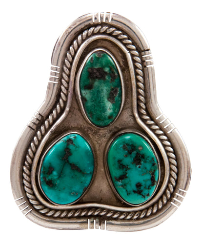 Navajo Native American Sleeping Beauty Turquoise Ring Size 7 1/2