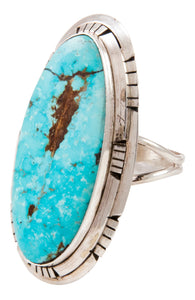 Navajo Native American Blue Ridge Turquoise Ring Size 7 by Skeets SKU233005