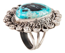 Load image into Gallery viewer, Navajo Native American Blue Moon Turquoise Ring Size 8 3/4 by Johnson SKU233010