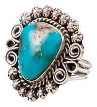 Load image into Gallery viewer, Navajo Native American Kingman Turquoise Ring Size 9 by Alice Johnson SKU233011