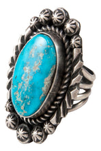 Load image into Gallery viewer, Navajo Native American Kingman Turquoise Ring Size 5 3/4 by Johnson SKU233012