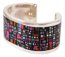 Load image into Gallery viewer, Zuni Native American Lab Opal Inlay Bracelet by Colin Coonsis SKU233017