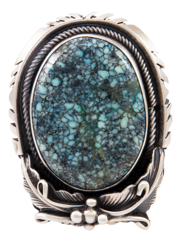 Navajo Native American New Lander Turquoise Ring Size 6 1/4 by Chee