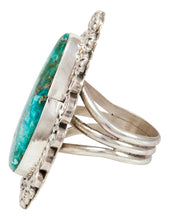 Load image into Gallery viewer, Navajo Native American Blue Ridge Turquoise Ring Size 7 by B Lee SKU233025