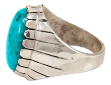 Load image into Gallery viewer, Navajo Native American Turquoise Ring Size 9 3/4 by Ray Jack SKU233027