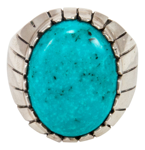 Navajo Native American Turquoise Ring Size 9 3/4 by Ray Jack SKU233027