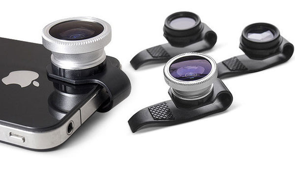 Clip on lens for iPhone