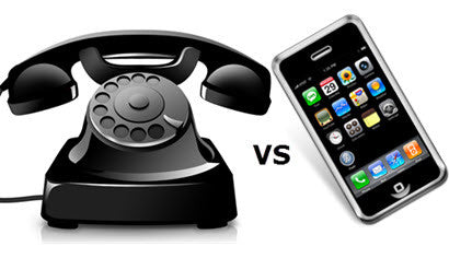 landline vs cell phone