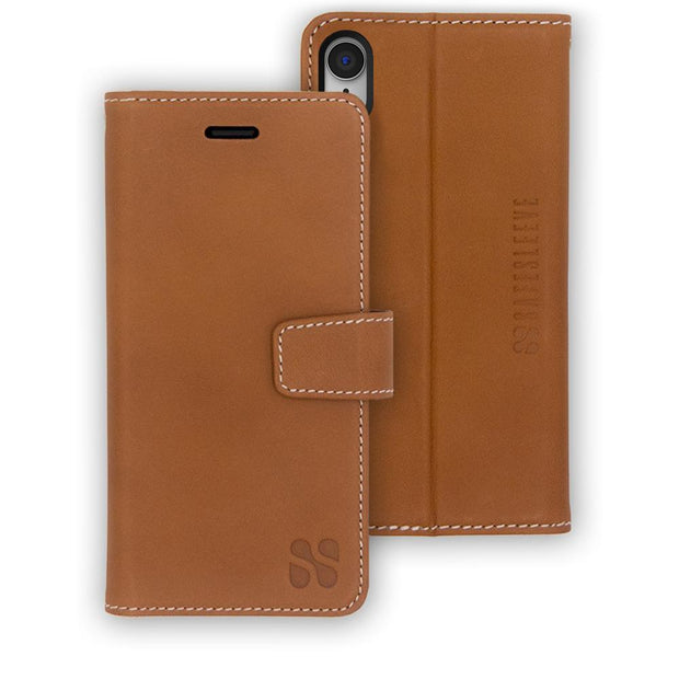 light brown iPhone XR (10 R) anti-radiation wallet case
