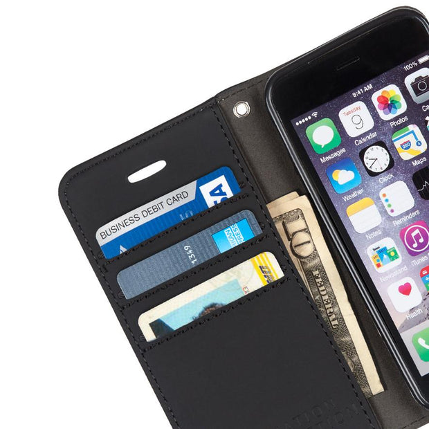 lightweight convenient anti-radiation wallet case for iPhone 6/6s, 7 & 8