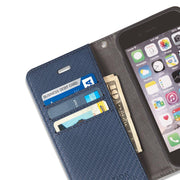 Blue iPhone 6 Plus/6s Plus, 7 Plus & 8 Plus Detachable Wallet Case