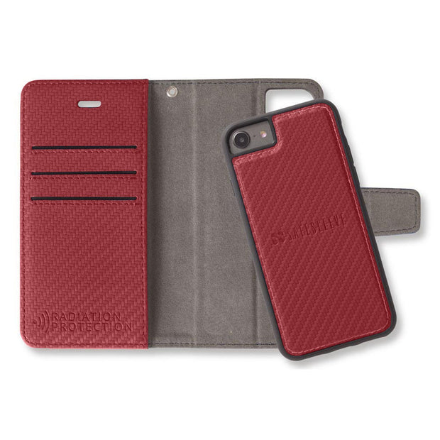 Red iPhone 6/6s, 7 & 8 Anti-Radiation and RFID Blocking Wallet Cas