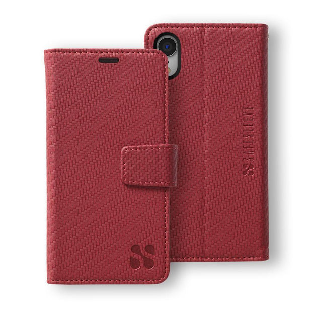 Red SafeSleeve Detachable iPhone XR Wallet Case
