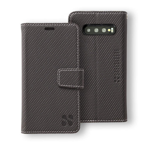 Anti-Radiation and RFID Blocking Detachable Wallet Case for the Samsung Galaxy S10