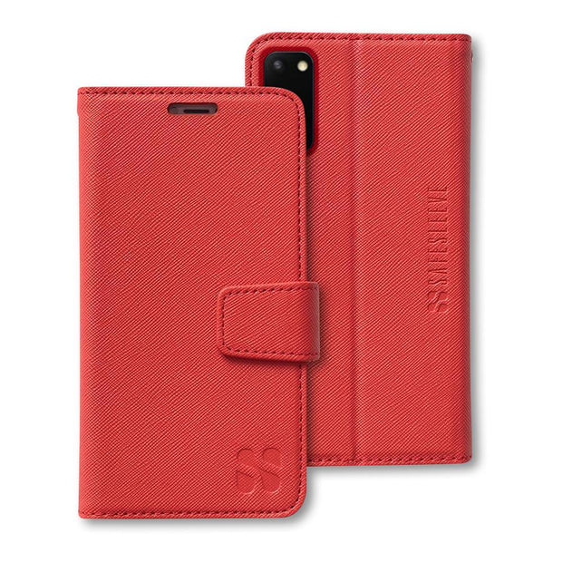 red anti-radiation wallet case for the Samsung Galaxy S20
