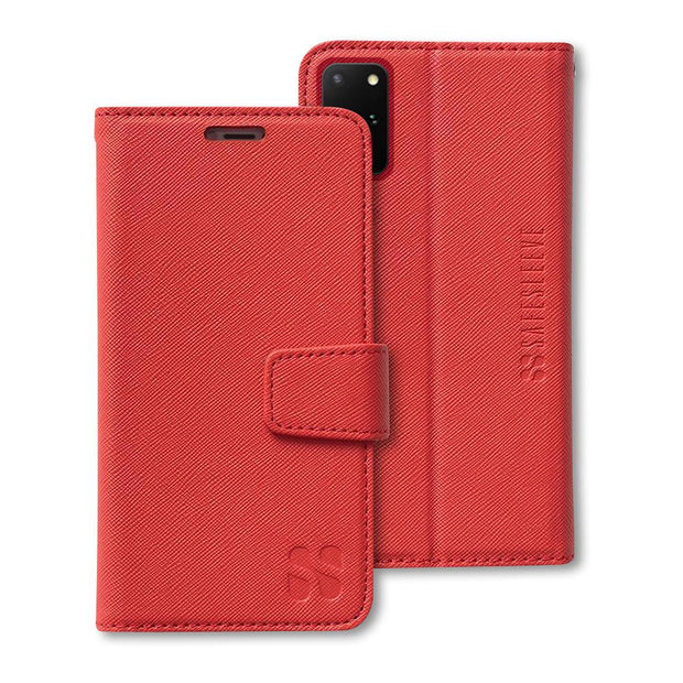 red Samsung Galaxy S20 Plus anti-radiation wallet case