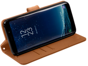 leather Samsung Galaxy S9 anti-radiation case turns into stand