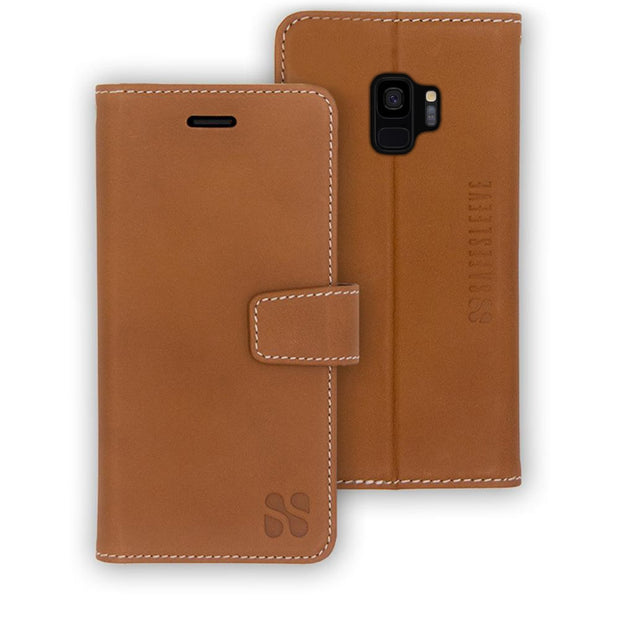 leather Samsung Galaxy S9 RFID blocking wallet
