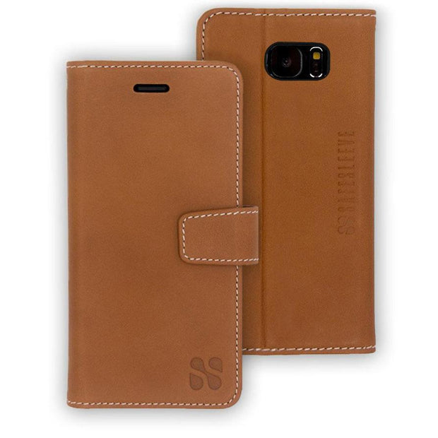 brown Samsung Galaxy S7 anti-radiation wallet case