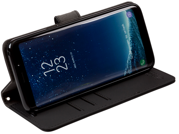 Samsung Galaxy S9 Plus built-in RFID blocking wallet with stand