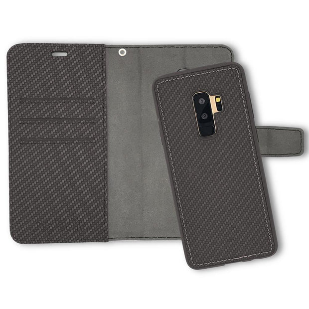 Anti-Radiation and RFID Blocking  Detachable Wallet Case for Samsung Galaxy S9 Plus