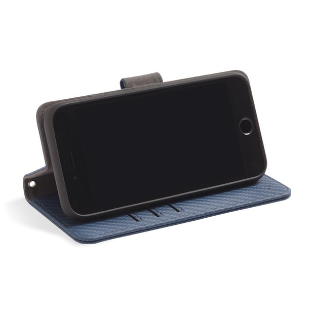 Blue RFID blocking wallet, Wallet Case with stand