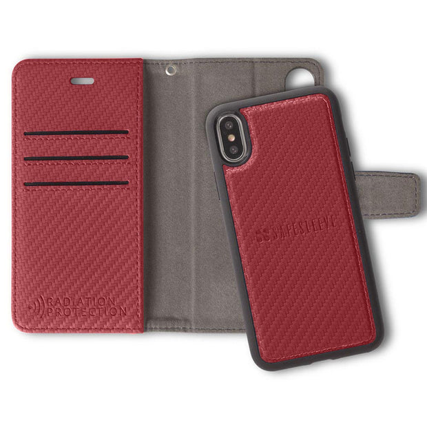 Red iPhone X/Xs Detachable Wallet Case