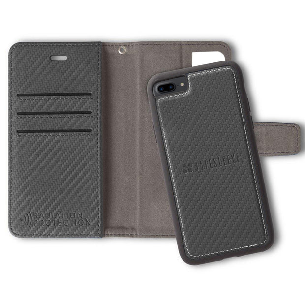 iPhone 6 Plus/6s Plus, 7 Plus & 8 Plus Anti-Radiation and RFID Blocking Detachable Wallet Case