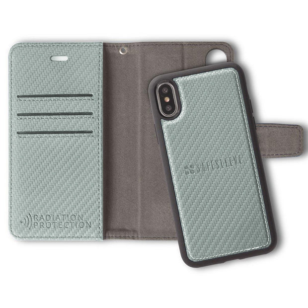 Grey iPhone Xs Max (10s Max) RFID blocking wallet