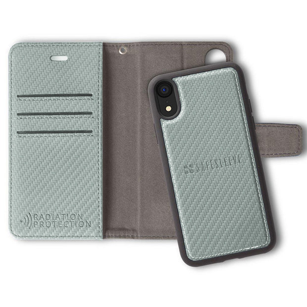 Grey iPhone XR Detachable Anti-Radiation Wallet Case
