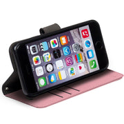 Pink iPhone 6 Plus, 7 Plus & 8 Plus RFID blocking wallet case with stand